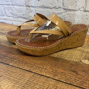 Sam Edelman Rasha Almond Cork Wedge Sandal 10